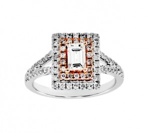 Baguette Cut Diamond Double Halo Ring 25760