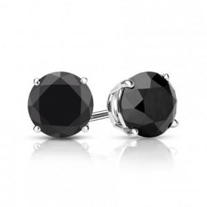 Black Diamond Stud Earrings 26436