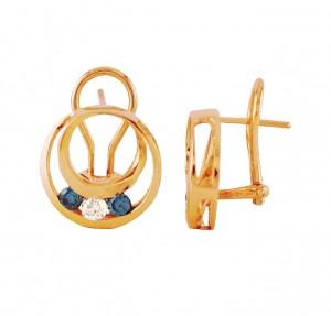 Circle of Love Blue and White Diamond Earrings 25693