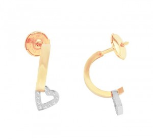 Escada J-Hoop Diamond Earrings 10196TO