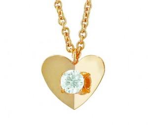 Escada Small Heart Diamond Necklace 14607QU