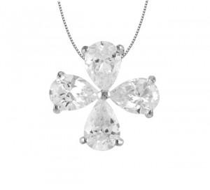 Floral Design Crystal Pendant 25230