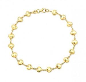 Ladies Puffed Heart Bracelet 22727