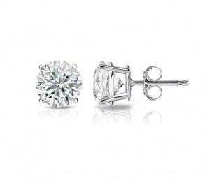 Lazare Diamonds Stud Earrings LEO38K-27018W-E19