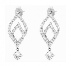 Lazare Flame Diamond Drop Earrings LJCCUSTOM