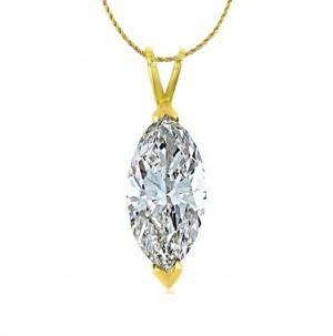 Marquise Shape Diamond Solitaire Pendant 17319