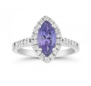 Marquise Tanzanite and Diamond Ring 28080