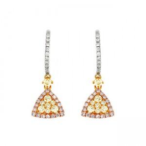 Multi Colored Diamond Earrings 27755