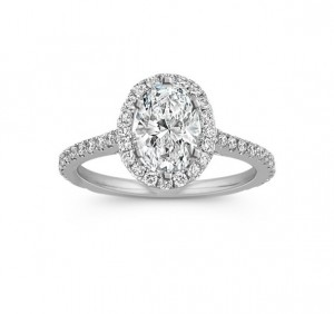 Oval Diamond Halo Engagement Ring 29182-25144