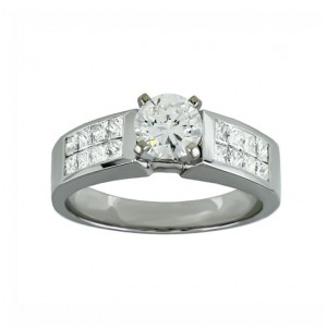 Princess cut Diamond Engagement Ring 19534-28078