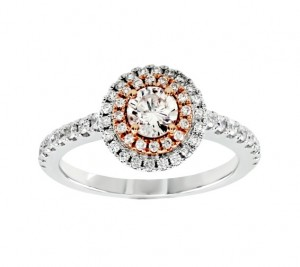 Round Diamond Double Halo Ring 25768