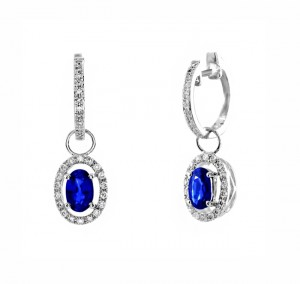 Sapphire and Diamond Dangle Earrings 26646