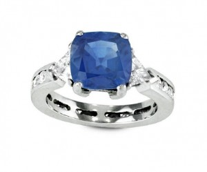 Sapphire and Diamond Eternity Ring 29183 Top