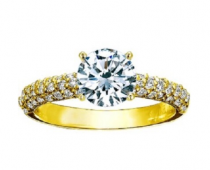 Starlight Pavé Diamond Engagement Ring 15050