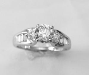 Three Stone Diamond Engagement Ring 21859-20080