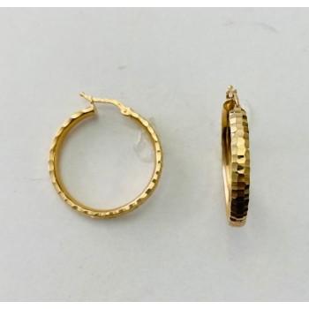 Classic Diamond Cut Hoop Earrings 28985