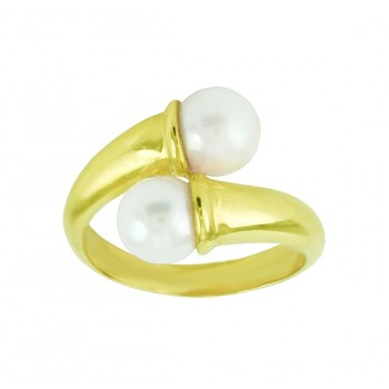 Cultured Pearl Bypass Ring 23601