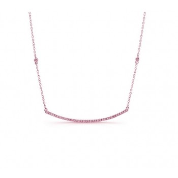 Curved Diamond Bar Necklace 25493