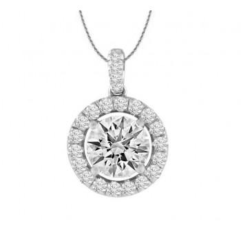 Diamond Halo Necklace 20198