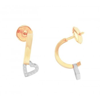 Escada J-Hoop Diamond Earrings 10196TO