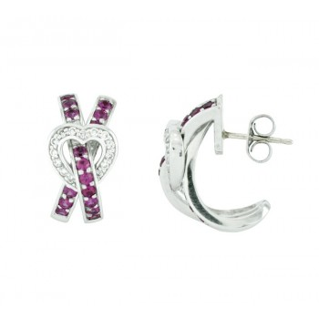 Féraud Pink Sapphire and Diamond Earrings FR04BE003