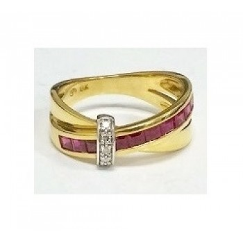 Guy Laroche Ruby and Diamond Ring 14350