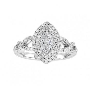 Infinity Twist Marquise Diamond Ring Top 23428