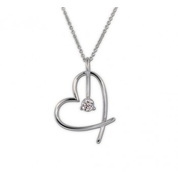 Lazare Hearts For Hope Diamond Pendant LP020K-43418W-P98