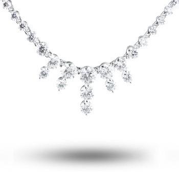 Lazare Small Icicle Diamond Necklace LJF00647