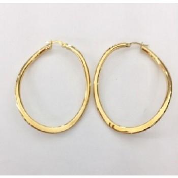 Linear Twist Gold Earrings 29073