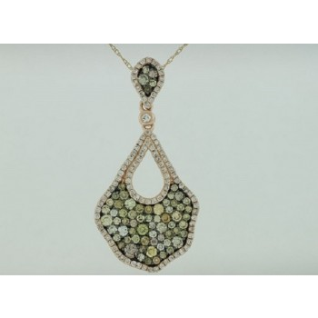 Multi Color and White Diamond Pendant 28796