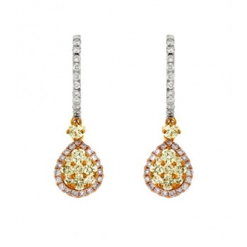 Multi-Color Diamond Drop Earrings 27760