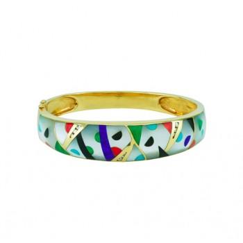 Multi Gemstone Bangle Bracelet 23632