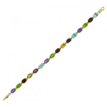 Multi Gemstone Bracelet 24619A