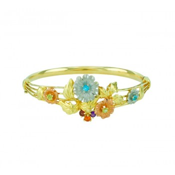 Multi Gemstone Floral Bracelet 23633