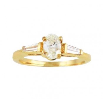 Oval Diamond Engagement Ring Top 15703