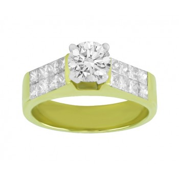 Princess Cut Diamond Engagement Ring 24362