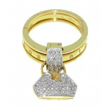 Rosato Barbarel Diamond Handbag Ring Top DBR.BARBAREL-54
