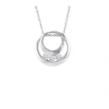 Three Stone Diamond Pendant 12726