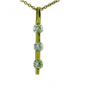 Three Stone Diamond Pendant 20579