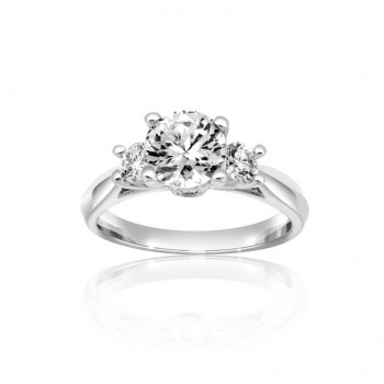 Trilogy Diamond Engagement Ring Top 24848-26918
