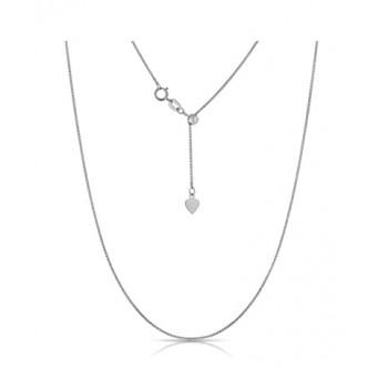 White Gold Adjustable Wheat Chain 29498